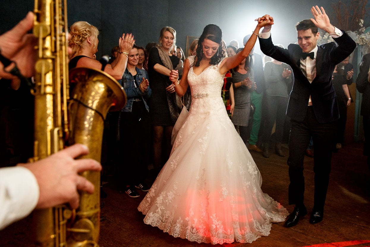 Bruiloft feest eerste dans